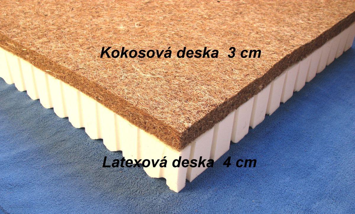Dětská latexová matrace s kokosovou deskou